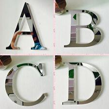 3D DIY Mural Art 26 Letters Mirror Effect Acrylic Wall Sticker House Decor