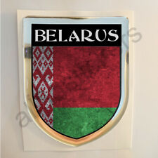 Belarus Sticker Resin Domed Stickers Flag Grunge 3D Adhesive Decal Gel Car