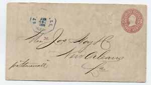 1869 steamboat Stonewall octagon marking on 3ct pse to New Orleans [JP.252]