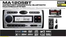 MA1205BT - WATERTIGHT MARINE DVD MULTIMEDIA BLUETOOTH SYSTEM with USB INPUT