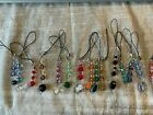 3 Cell Phone Charms/Zipper Pulls Made with Swarovski & Glass Beads-Grab Bag