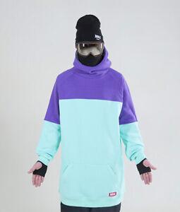 Men's NM4 oversized Hoodie Extra Tall Snowboard Ski Sweater Mint-Purple