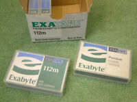 Exatape Exabyte 8mm 112m Data Cartridge+Cleaning Tape  Pack of 5 Retail Box-New