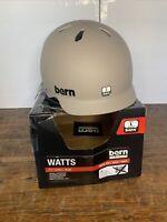 Bern Watts Cycling Bike Riding Outdoor Helmet Matte Sand Large Damaged Box NWT