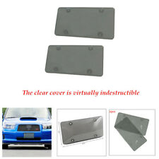 Size U.S. 2PCS/Set Novelty License Plate Cover Tag Frame Shield Tinted Flat Car