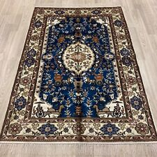 YILONG 4'x6' Handknotted Silk Floral Rug Home Decor Traditional Carpet WY392C