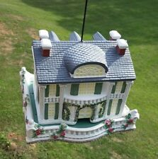 "Bird Feeder Ceramic Southern Plantation House 10.5"""
