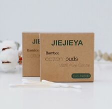 JIEJIEYA® UK's No1 BAMBOO/WOODEN COTTON BUDS BIODEGRADABLE VEGAN/ECO FRIENDLY