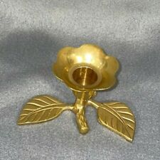 Vintage Brass Flower Candle Holder - Beautiful Perfect Condition