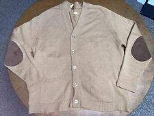 Alan Paine of Godalming VINTAGE 4-6 100% cashmere tan color cardigan