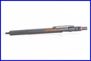 Rotring 600 FM pencil black knurrled grip adjust. view RED PRINT GERMANY
