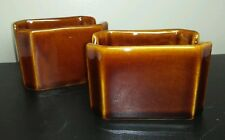 DCC sugar packet holders set of 2 made in USA ceramic brown condiment pack table