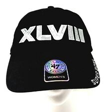 0fbe84845ab7d0 Forty Seven '47 Baseball HAT CAP Womens Black Buckle Strap NFL Super Bowl  XLVIII