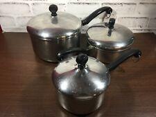 Farberware 6 Piece Pots and Lids Set - 3 Qt Pot, 1 Qt Pot, 1.5 Qt Pan