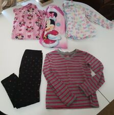 Girls Clothing Lot Size 4/5T - Lot of 6 - Fall/Winter pajamas, top, leggings