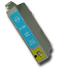 1 Light Cyan Non-OEM T0795 'Owl' Ink Cartridge with Epson Stylus PX820FWD