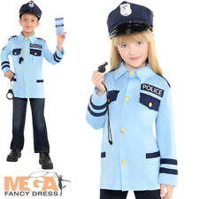 Police Officer Kit Kids Fancy Dress Patrol Cop Uniform Boys Girls Childs Costume
