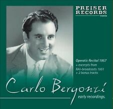 CARLO BERGONZI: EARLY RECORDINGS NEW CD