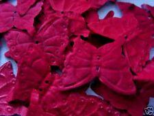 BURGUNDY BUTTERFLY( butterflies)  SILK  PETALS/WEDDING/CONFETTI TABLE DECOR