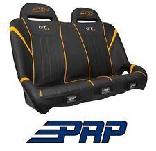 PRP Suspension Rear Bench Seat Black / Orange 14-17 Polaris RZR XP 1000 & Turbo