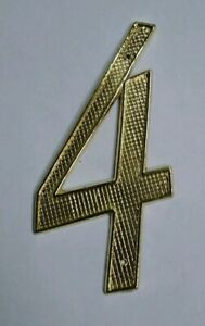 House Street Address Nail on Metal Zinc Letters & Numbers  0-9 Polished Brass