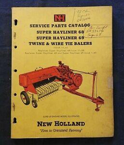 "1962 NEW HOLLAND ""SUPER HAYLINER 68 69 TWINE & WIRE BALER"" PARTS CATALOG MANUAL"