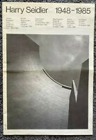 1985 Harry Seidler 1948 - 1985, Exhibition in Australia and Europe, free ship AU