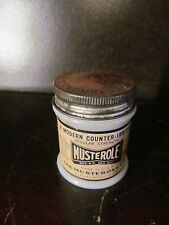 Vintage Musterole for Congestion Milk Glass Medical  Bottle