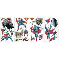 SUPERMAN DAY OF DOOM wall stickers 21 decals superhero wall party decorations