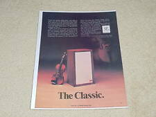 Acoustic Research AR-3a Speaker Ad, 1971, 1 pg, Rare