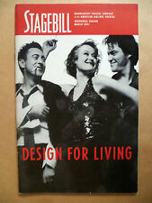 2001 Stage Bill Roundabout Theatre Company DESIGN FOR LIVING by Joe Mantello