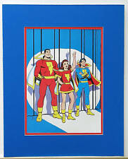 MARVEL FAMILY Pin up Poster 1978 DC MARY SHAZAM MATTED