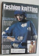 Fashion Knitting Magazine c Aug 85 #20                                       B3