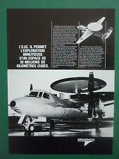 PUB GRUMMAN AEROSPACE E-2C HAWKEYE RADAR US NAVY AERONAVALE ORIGINAL FRENCH AD