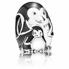 Pandora Charm Penguin Family, Black Enamel 791404EN60 with Gift Box