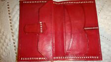 VINTAGE RED BROWN HAND MADE LEATHER MAN WALLET