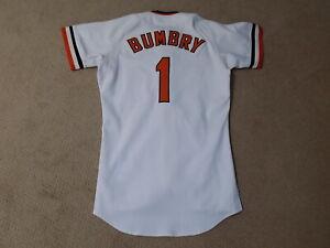 Al Bumbry Game Worn Jersey 1982 Baltimore Orioles