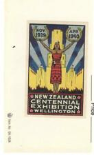 NEW ZEALAND 1940 CENTENNIAL EXHIBITION POSTER STAMP, MNG, IMPERF