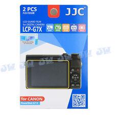 JJC 2PCS LCD Guard Film Screen Protector for Canon Powershot G7X Mark II G5X G9X