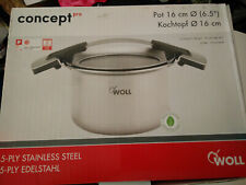 WOLL CONCEPT INDUCTION STAINLESS STEEL CASSEROLE POT WITH LID 16 CM BNIB