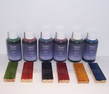 Spirit Based Wood Dye - Bolgers 6 x 50ml Vibrant Colour stains ideal woodturning