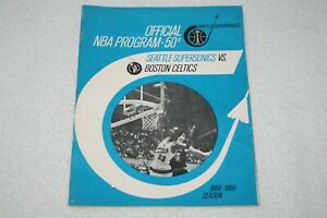 1969 Seattle Supersonics PROGRAM * Sonics vs Boston Celtics Bill Russell 28 RBs.