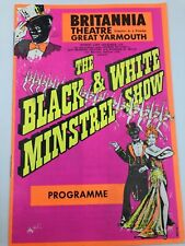 More details for the black & white minstrel show programme 1976 britannia theatre great yarmouth