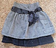 EUC Cherokee Girls Medium Black Shimmer Velvet Ruffle Skirt sz 7 sz 8