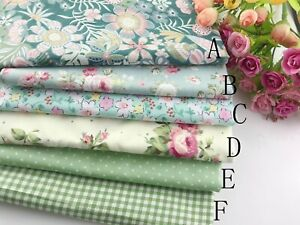 "(19""x19"") Green Fat Quarter Bundle Quilt Quilting 100%cotton Fabric Sewing DIY"