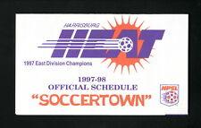 Harrisburg Heat--1997-98 Pocket Schedule--Tanger Outlet Center--NPSL