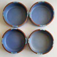 Set 4 Dansk Mesa Sky Blue Stoneware Soup Salad Cereal Bowls 5 7/8 Portugal Japan