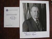 US Signed - Donald T. Regan - Secretary of Treasury- Photograph & Letter