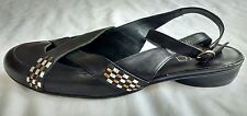 Cara London Womens Ladies Black Leather Heeled Summer Sandals Size 5/38 Used