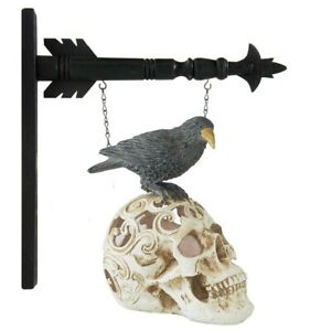 """""""LED"""" CROW ON SKULL"""" - Replacement Sign for Country Arrow Holders"""